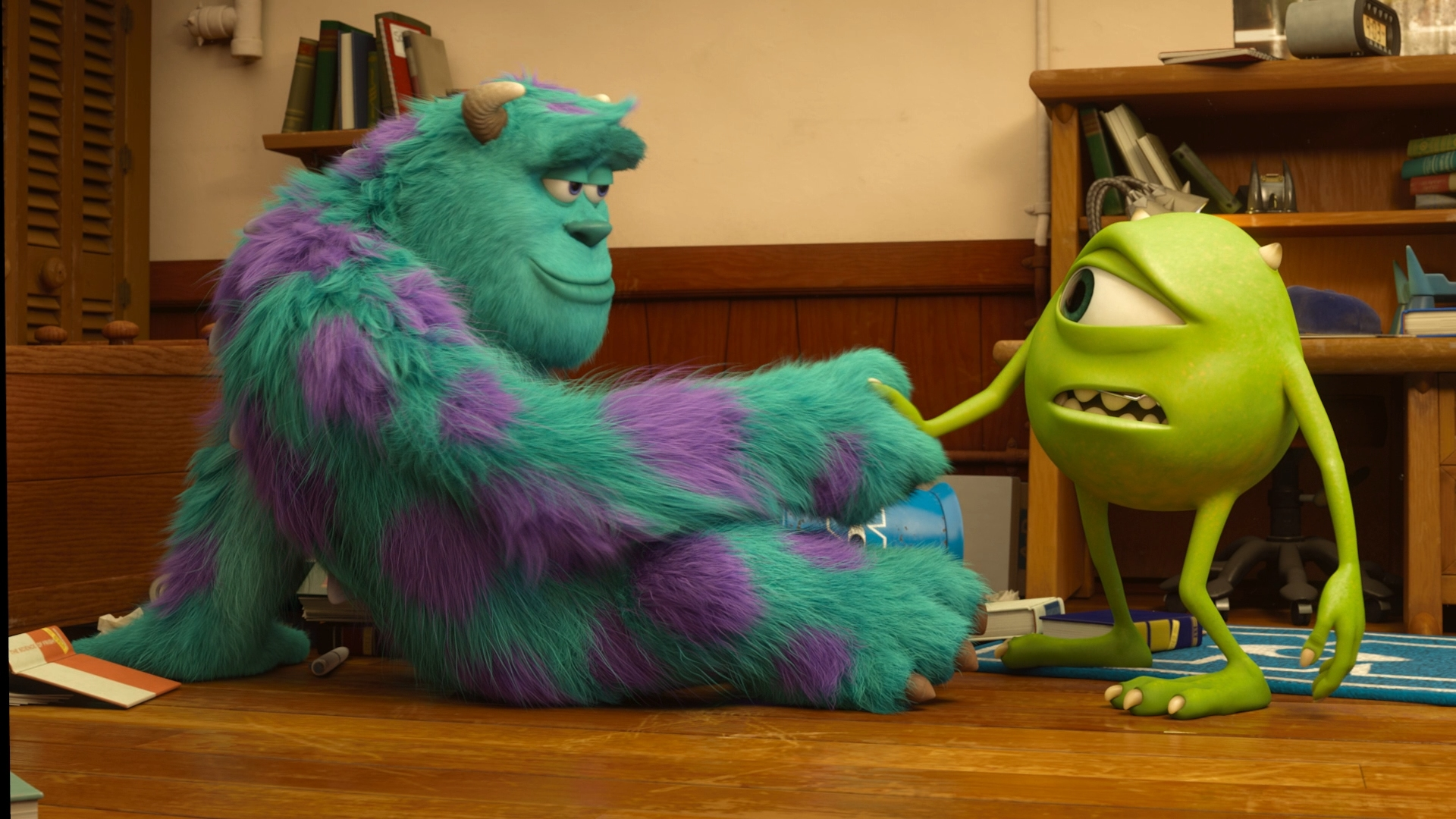 monsters university mike and sulley meet the millers